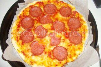 Пицца пепперони в домашних условиях