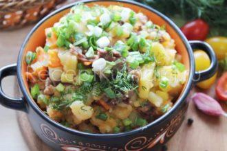 Картошка с тушенкой рецепт в кастрюле