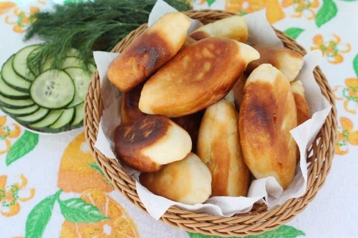 Пирожки на дрожжах на сковороде
