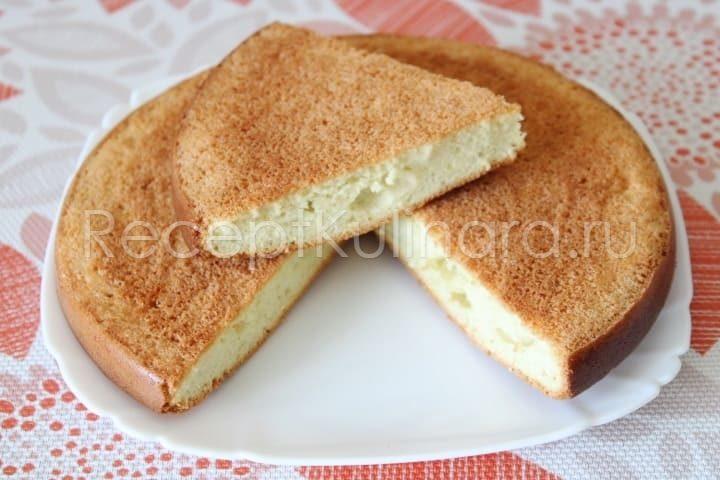 Бисквит рецепт классический в духовке пышный и вкусный