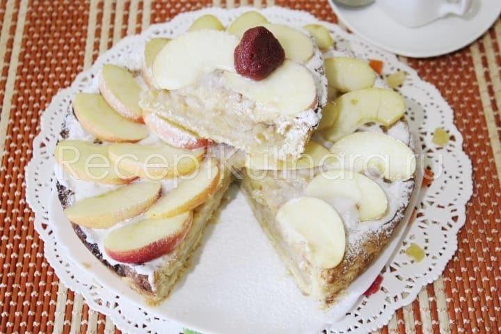 Шарлотка с яблоками простой и вкусный рецепт