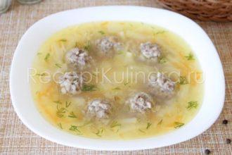 Суп с фрикадельками картошкой и вермишелью