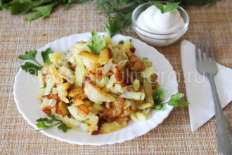 Вкусная жареная картошка с корочкой на сковороде