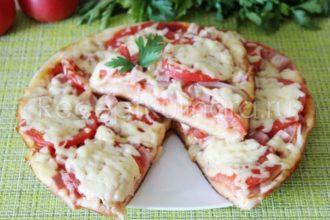 Вкусная и быстрая пицца на сковороде за 10 минут
