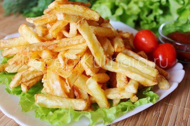 Картошка фри на сковороде в домашних условиях