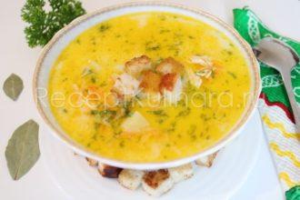 Сырный суп с курицей и плавленым сыром