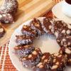 Шоколадная колбаса из печенья со сгущенкой и какао