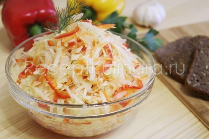Капуста Провансаль быстрого приготовления с болгарским перцем