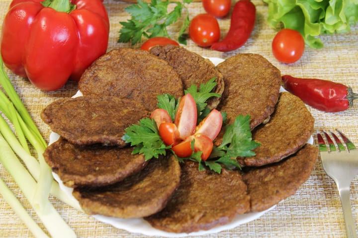 Печеночные оладьи из куриной печени