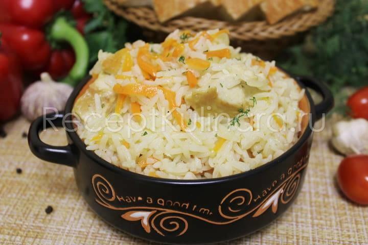 Плов с курицей на сковороде рассыпчатый и вкусный – рецепт с фото пошагово