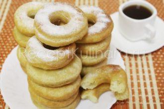 Пончики на кефире за 15 минут на сковороде пышные и вкусные без дрожжей