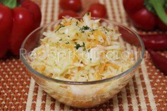 Салат из свежей капусты как в столовой витаминный