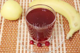 Кисель из крахмала и замороженных ягод клюквы вишни черной смородины