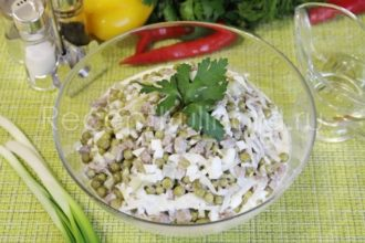 Салат с говяжьим языком и соленым огурцом самый вкусный и простой