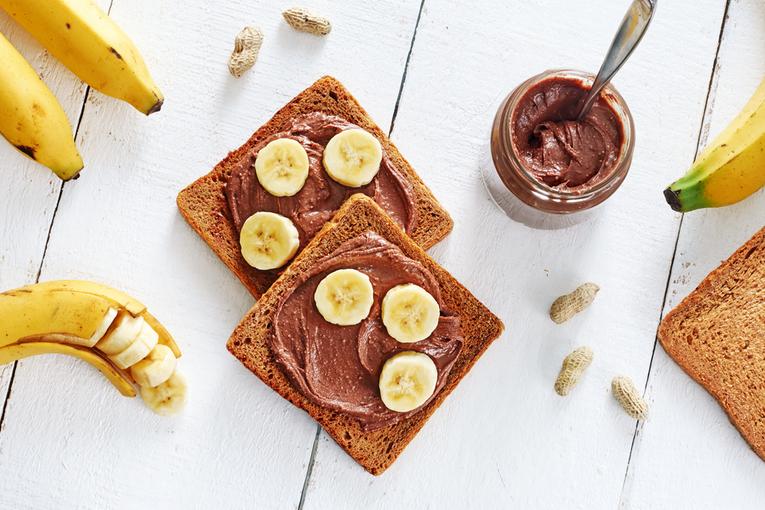 Шоколадная паста с бананом