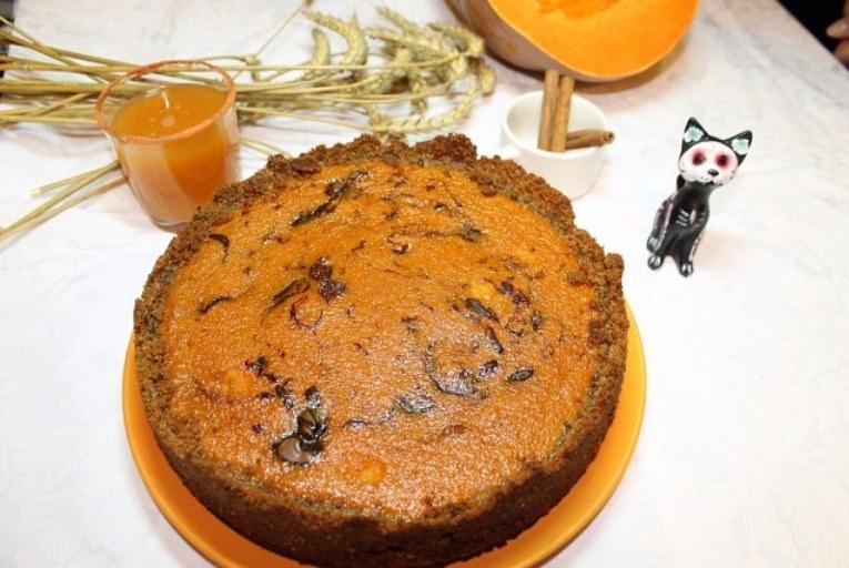 Тыквенный пирог с нутеллой
