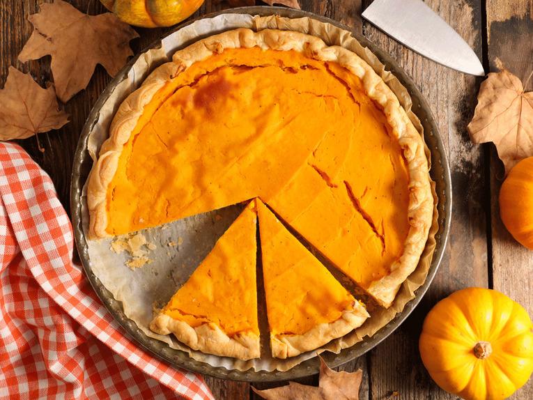 Тыквенный пирог с сыром