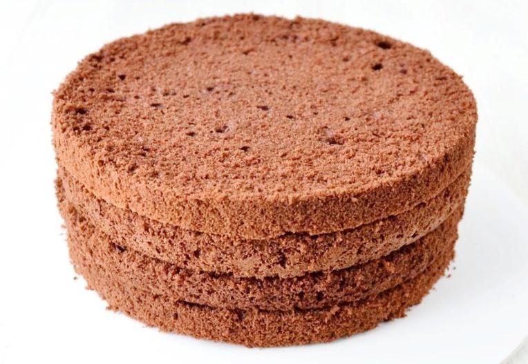 Бисквит для торта на воде с какао