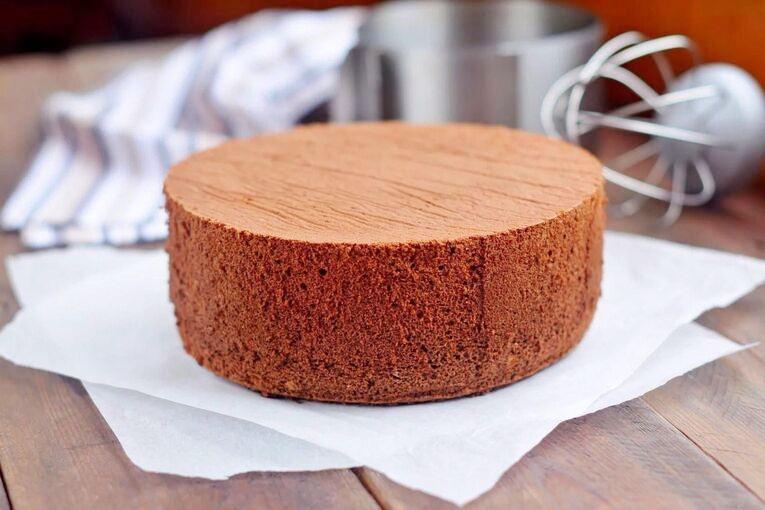Бисквит для торта «Шоколадный на кипятке»