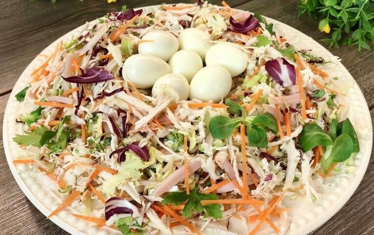 Рецепт популярного салата «Ласточкино гнездо»