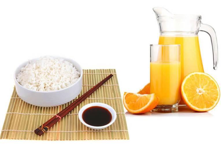 Рис с апельсиновым соком