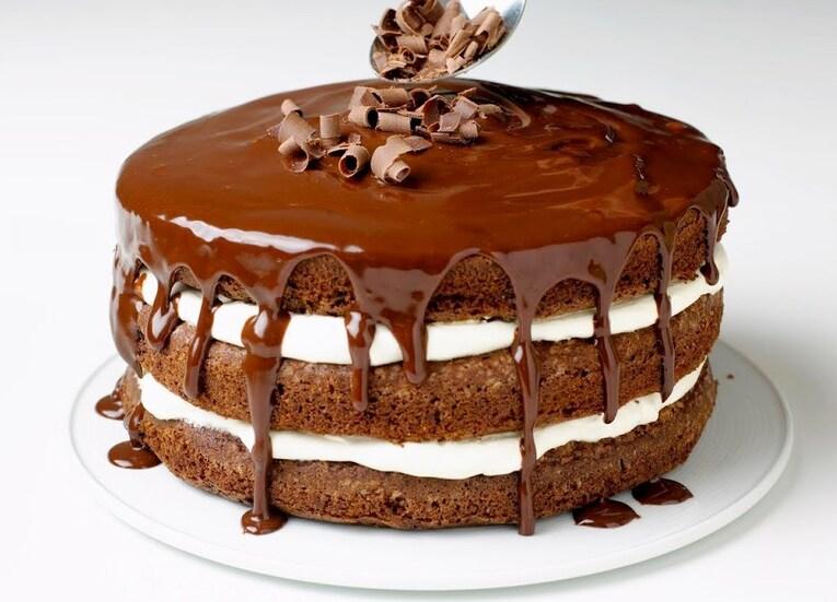 Шоколадная глазурь для украшения торта «Быстрая»