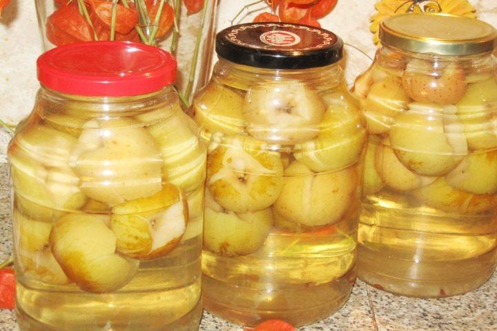 Компот из яблок на зиму на 3 литровую банку